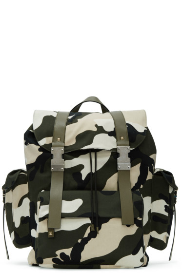 Valentino - Green New Camo Rockstud Backpack
