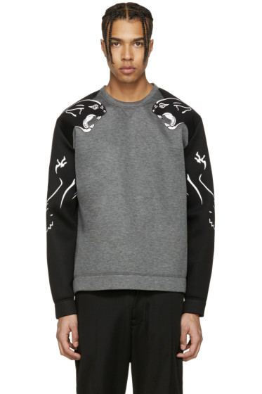 Valentino - Grey Panther Sleeve Pullover