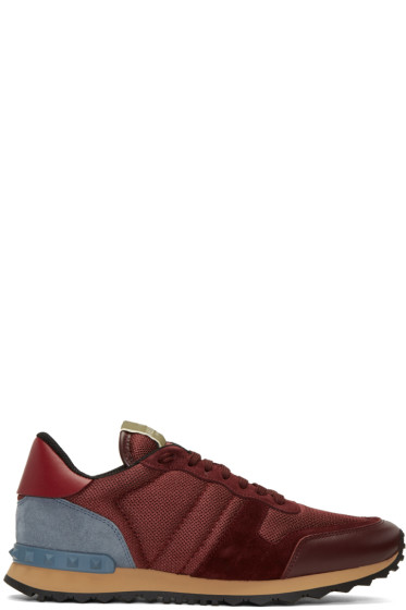 Valentino - Red Mesh Rockrunner Sneakers