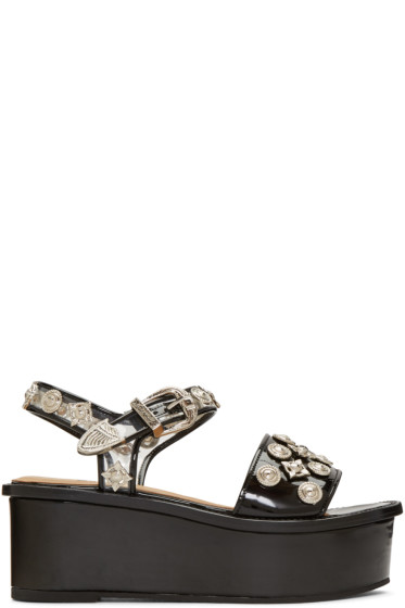 Toga Pulla - Black Platform Sandals