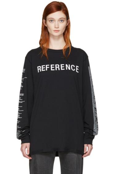 Yang Li - Black 'Reference' T-Shirt