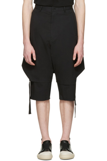 D.Gnak by Kang.D - Black Layered Shorts