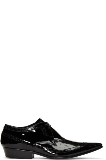 Haider Ackermann - Black Patent Leather Brogues