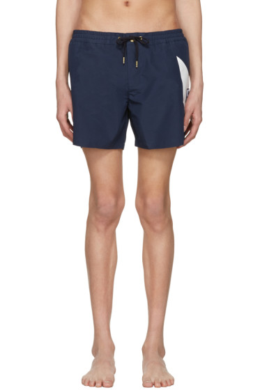 Moncler Gamme Bleu - Navy Contrast Swim Shorts