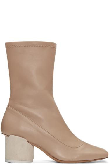 Jacquemus - Taupe 'Les Bottes' Boots