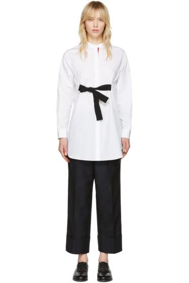 Moncler Gamme Rouge - White Poplin Shirt Dress
