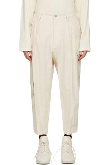 Yohji Yamamoto - Ivory Linen Cargo Pants