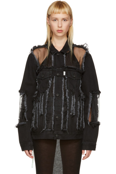 Off-White - Black Denim Over Jacket
