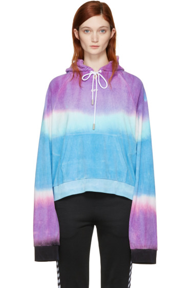 Off-White - Multicolor Tie-Dye 'Woman' Towel Hoodie