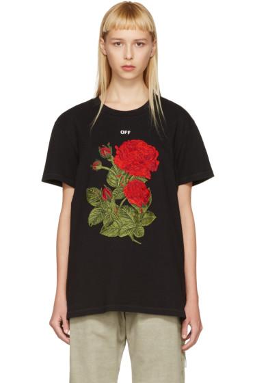 Off-White - Black Rose Over T-Shirt