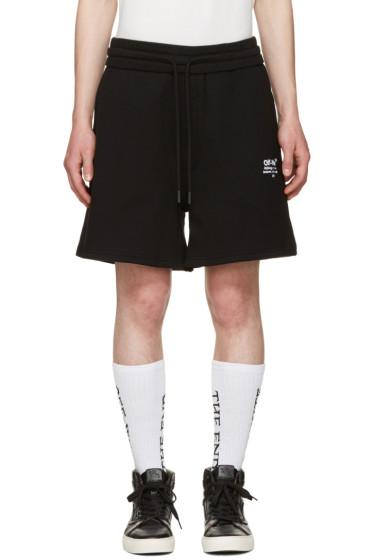 Off-White - Black Off Shorts
