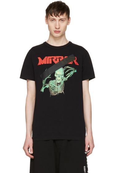 Off-White - Black Skull Mirror T-Shirt