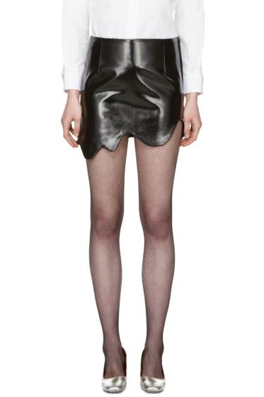 Toga - Black Smooth Miniskirt