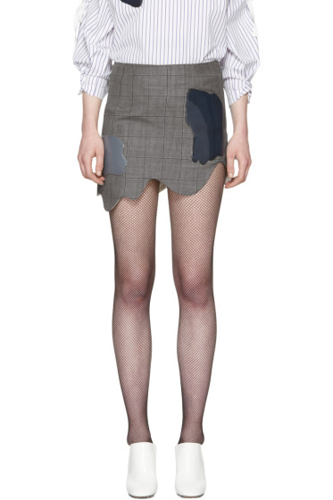 Toga - Grey Check Miniskirt