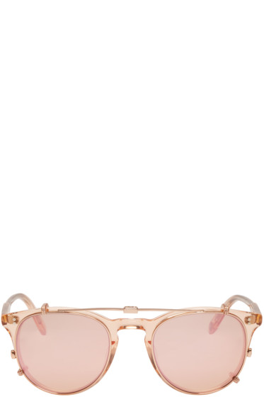 Garrett Leight - Pink Milwood Clip-On Sunglasses