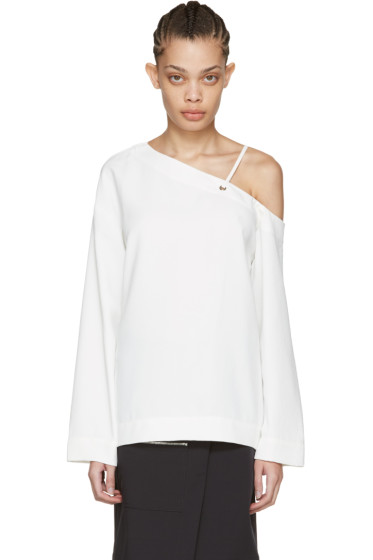Nomia - White Laced Shoulder Blouse