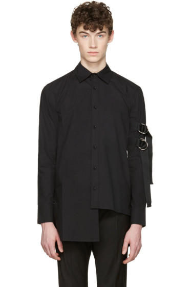 D by D - Black Asymmetric Straps Shirt