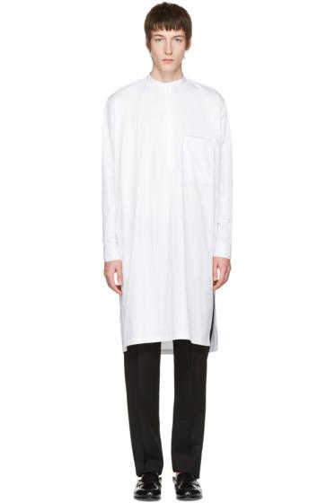 Lemaire - ホワイト ロング ポプリン シャツ