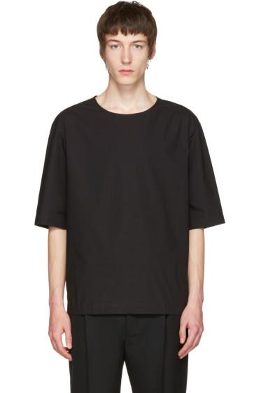 Lemaire - ブラック ポプリン T シャツ