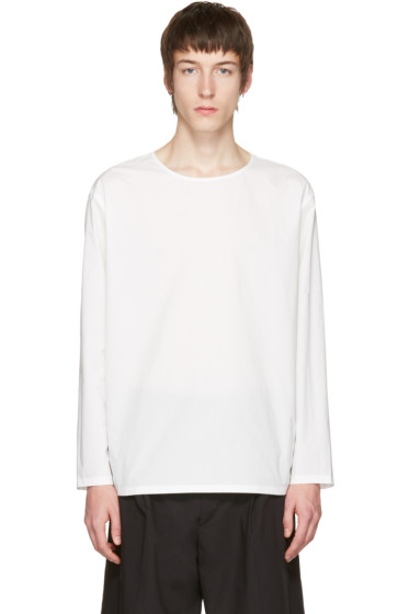 Lemaire - ホワイト ポプリン T シャツ