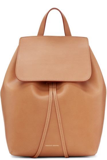 Mansur Gavriel - Tan Leather Mini Backpack
