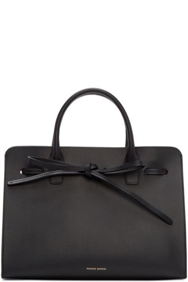 Mansur Gavriel - Black Leather Mini Sun Tote