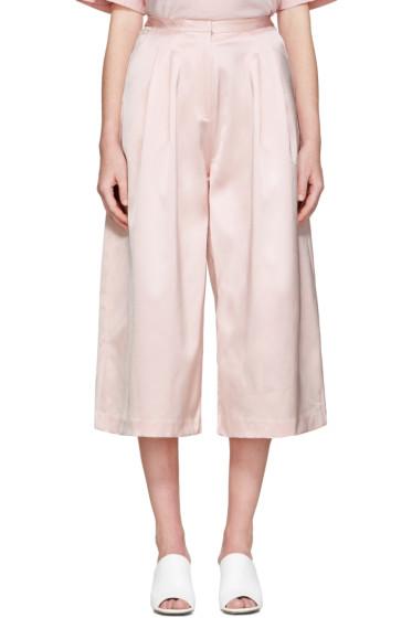 Edit - Pink Long Satin Culottes