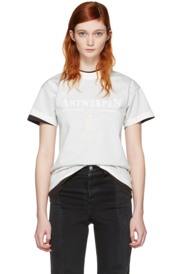 Vetements - White Hanes Edition Fitted Double 'Antwerpen' T-Shirt