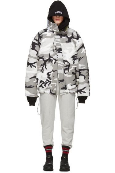 Vetements - Reversible Grey Camouflage Canada Goose Edition Parka