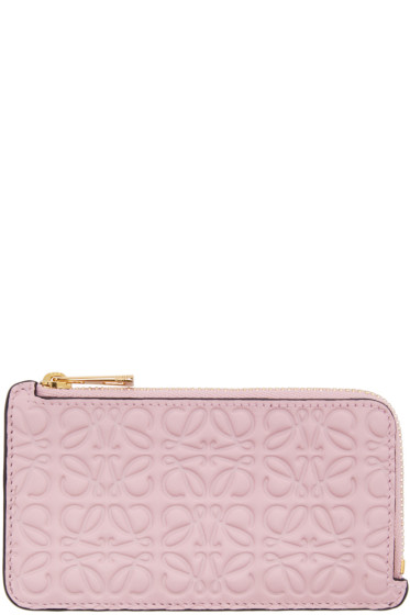 Loewe - Pink Anagram Card Holder