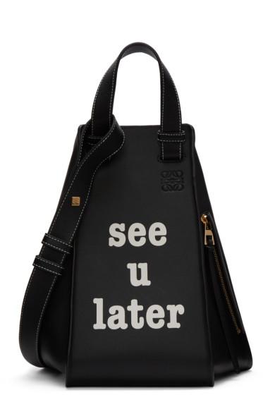 Loewe - Black 'See U Later' Hammock Bag