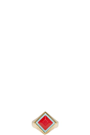 Fendi - Gold Rainbow Ring