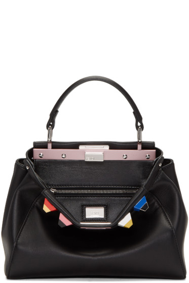 Fendi - Black Mini Rainbow Peekaboo Bag