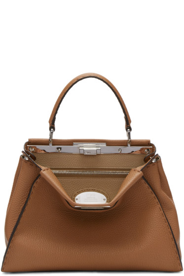 Fendi - Brown Regular Selleria Peekaboo Bag