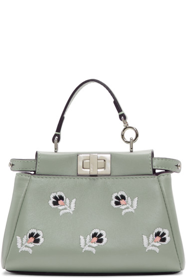 Fendi - Blue Micro Flower Peekaboo Bag