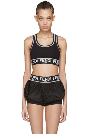 Fendi - Black Logo Sports Bra