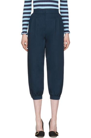 Fendi - Navy Cuffed Trousers