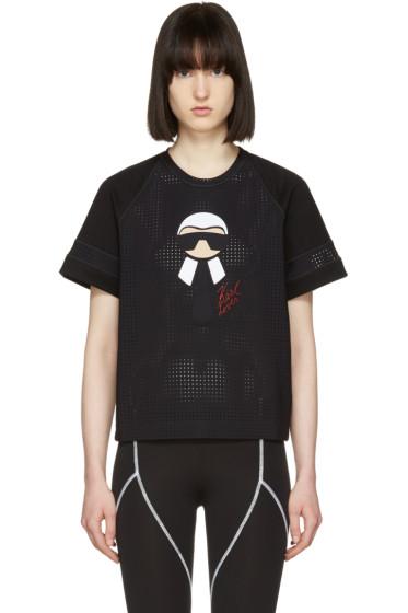 Fendi - Black Karlito Leisure T-Shirt