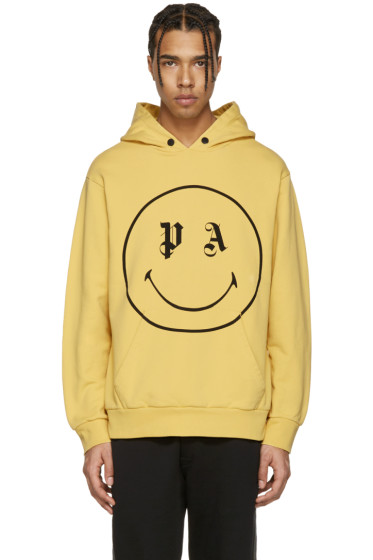 Palm Angels - Yellow Smiling Hoodie