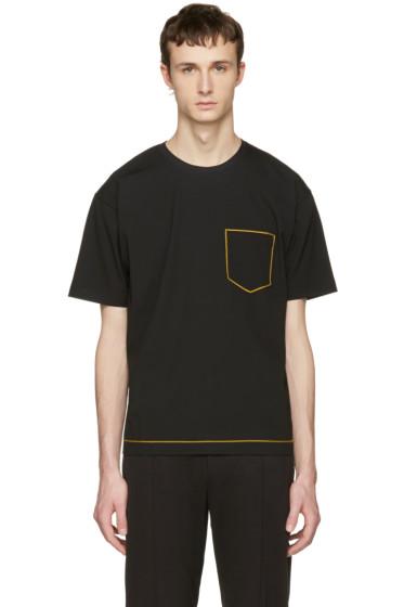 Wooyoungmi - Black Contrast Pocket T-Shirt