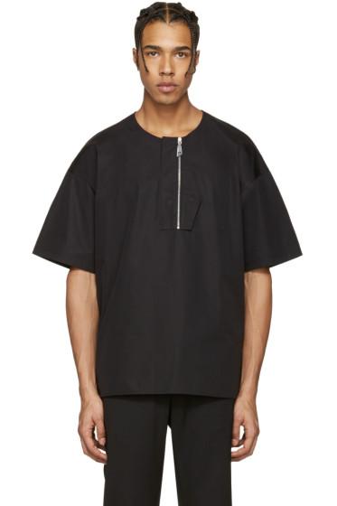 Wooyoungmi - Black Front Zip T-Shirt