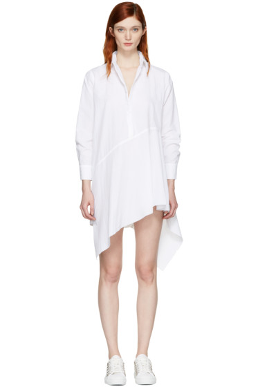 Marques Almeida - White Asymmetric Shirt Dress