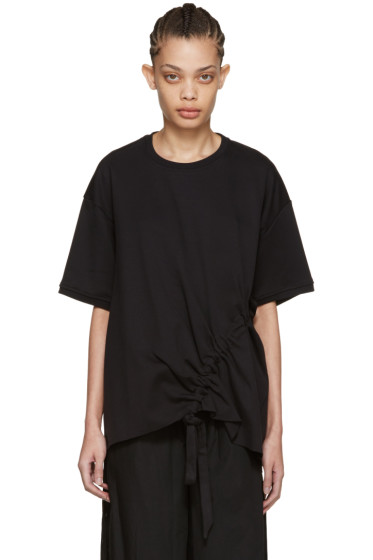 Marques Almeida - Black Side Cord T-Shirt