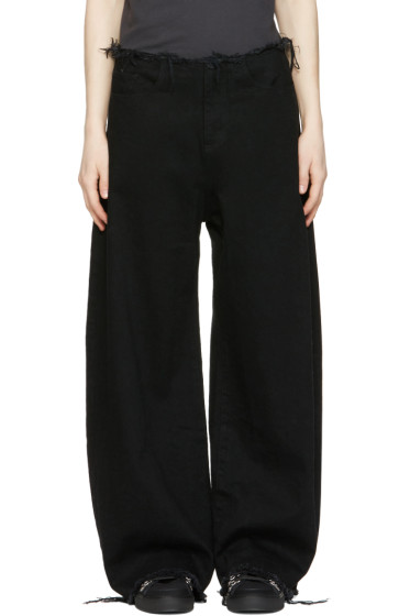 Marques Almeida - Black Oversized Jeans