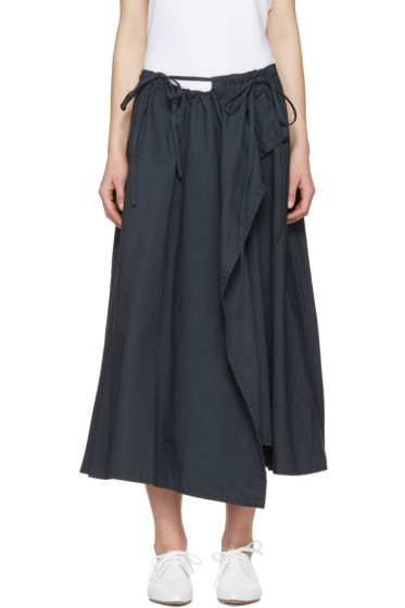 Y's - Navy Wrap Skirt