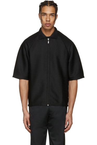 Cottweiler - Black Service Zip-Up Polo