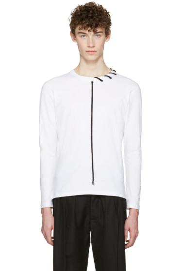 Craig Green - White Lace-Up Collar T-Shirt