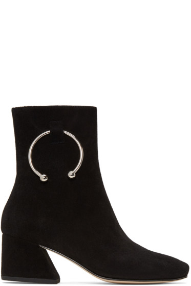 Dorateymur - Black Suede Nizip Boots