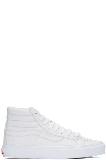 Vans - White OG Sk8-Hi LX Sneakers