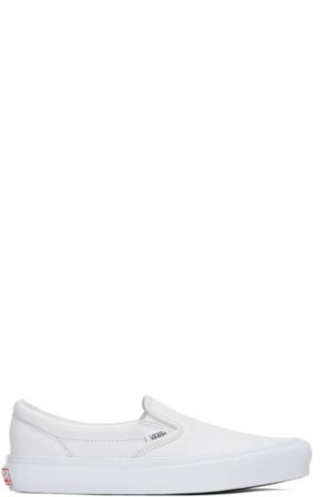 Vans - White UA OG Classic LX Slip-On Sneakers